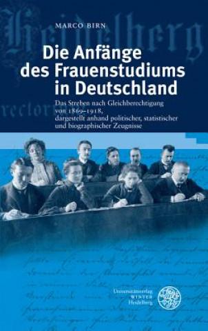 Die Anfänge des Frauenstudiums in Deutschland