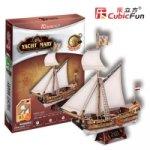 Puzzle 3D Jachta Mary – 83 dílků