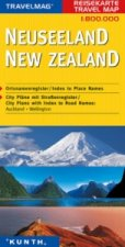 Travelmag KUNTH Reisekarte Neuseeland 1:800 000. New Zealand