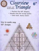 Clearview Triangle 6 Inch - 60 Acrylic Ruler