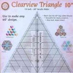 Clearview Triangle 10 Inch - 60 Acrylic Ruler