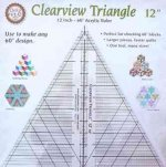 Clearview Triangle 12 Inch - 60 Acrylic Ruler