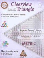 Clearview Triangle Metric 20 cm - 60 Acrylic Ruler