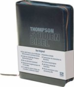 Thompson Studienbibel - italienisches Kunstleder, blau, mit Reißverschluss