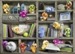 Gelini im Bücherregal (Puzzle)