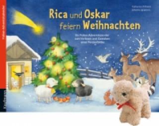 Rica und Oskar feiern Weihnachten Stoffschaf