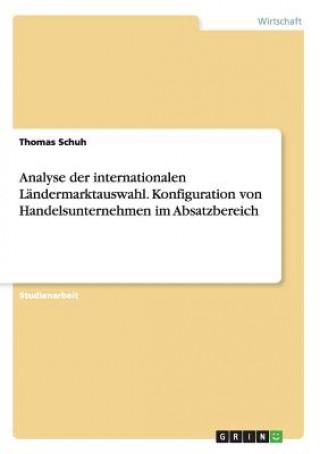 Analyse der internationalen Ländermarktauswahl. Konfiguration von Handelsunternehmen im Absatzbereich