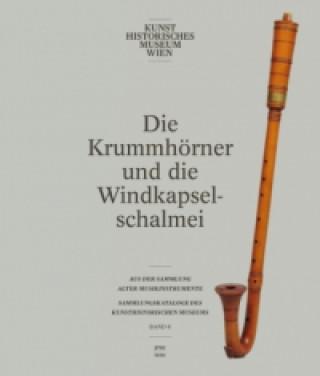 Die Krummhörner und die Windkapselschalmei aus der Sammlung alter Musikinstrumente