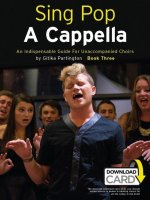 Sing Pop a Cappella - Book Three (Book/Download Card)