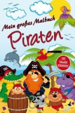 Malbuch Piraten mit Stickern