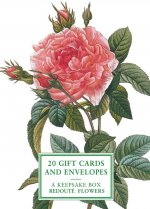 Tin Box of 20 Gift Cards and Envelopes: Redoute Flowers
