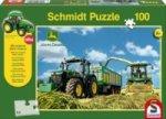 John Deere, 7310R Traktor mit 8600i Feldhäcksler (Kinderpuzzle)