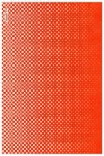 Notizbuch Graphic S Smooth Bonded Leather - Point By Point, Neon Orange Screen Print