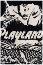 Notizbuch Graphic L Jeans Label Material - Playland, Black Screen Print