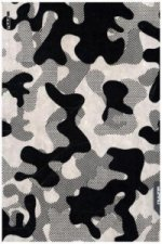 Notizbuch Graphic L Jeans Label Material - Camouflage, Black Screen Print