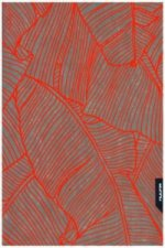 Notizbuch Graphic L Jeans Label Material - Banana Leaves, Neon Orange Screen Print