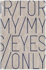 Notizbuch Graphic L Jeans Label Material - For My Eyes Only, Blue Screen Print