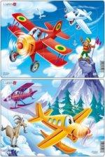 Puzzle MIDI - Letadla - planes/13 dílků (2 druhy)