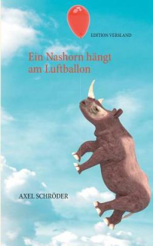 Nashorn hangt am Luftballon