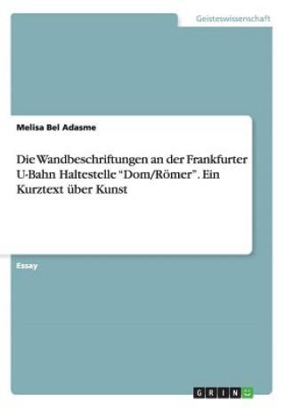 Wandbeschriftungen an der Frankfurter U-Bahn Haltestelle Dom/Roemer. Ein Kurztext uber Kunst
