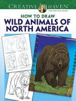 Creative Haven Wild Animals of North America Draw and Color