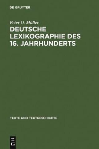 Deutsche Lexikographie Des 16. Jahrhunderts