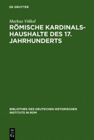 Roemische Kardinalshaushalte Des 17. Jahrhunderts
