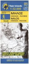 Hiking Map Wanderkarte Milos Kimolos