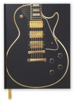Gibson Les Paul Black Guitar (Blank Sketch Book)