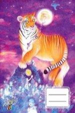 Sešit Tygr a měsíc A5, linkovaný