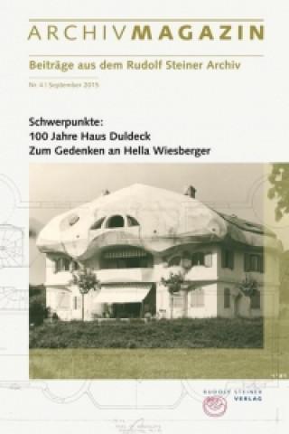 ARCHIVMAGAZIN. Beiträge aus dem Rudolf Steiner Archiv. Nr.4