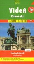 Plán města Vídeň + Rakousko 1:16 000/1:500 000