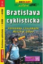 Bratislava cyklistická/cyklomapa 1:18T/1:40T