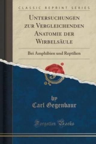 Untersuchungen Zur Vergleichenden Anatomie Der Wirbelsaule