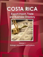 Costa Rica Export-Import, Trade and Business Directory Volume 1 Strategic Information and Contacts