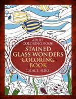 Adult Coloring Book - Stained Glass Wonders Coloring Book