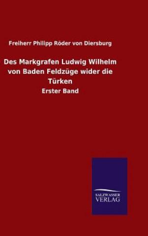 Des Markgrafen Ludwig Wilhelm Von Baden Feldz ge Wider Die T rken