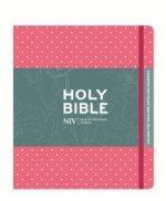 NIV Pink Polka Dot Journalling Bible with Unlined Margins
