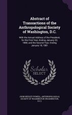 Abstract of Transactions of the Anthropological Society of Washington, D.C.