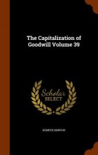 Capitalization of Goodwill Volume 39