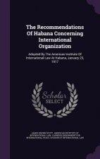 Recommendations of Habana Concerning International Organization