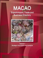 Macao Export-Import, Trade and Business Directory Volume 1 Strategic Information and Contacts