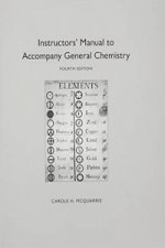 Instructor's Manual to Accompany General Chemistry