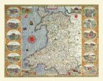 John Speeds Map of Wales 1611