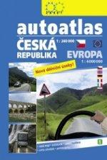 Autoatlas ČR 1:240 000 + Evropa 1:4 000 000