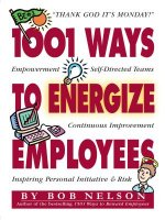 1001 Ways to Energize Employees