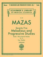 75 Melodious And Progressive Studies, Op. 36