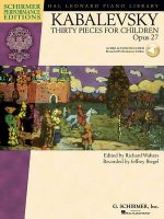 Kabalevsky 30 Pieces for Children, Opus 27