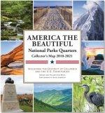 National Parks Commemorative Quarters Collector Map 2010-2021