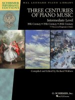 Three Centuries of Piano Music